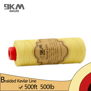 Braided-Kevlar-Kite-Fly-Line-500ft-500lbs-Cut-Resistant-Camping-Made-with-Kevlar