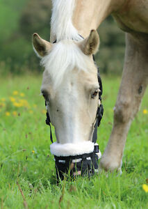 New-Shires-Deluxe-Comfort-Anti-Grazing-Muzzle-With-Soft-Fleece-Restricts-Eating