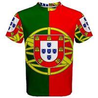 New Portugal Flag Sublimated Mens Sport Mesh Tee T-Shirt Size XS S M L XL 2XL 3X