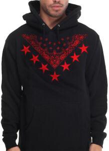 c065065effa77 Men s Red Bandana Star Print Hoodie Sweatshirt Urban Wear Hip Hop ...