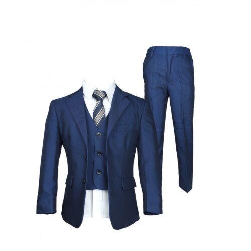 Boys Formal Blue Suits Page Boy Children Italian Design Kids Wedding Suit Set