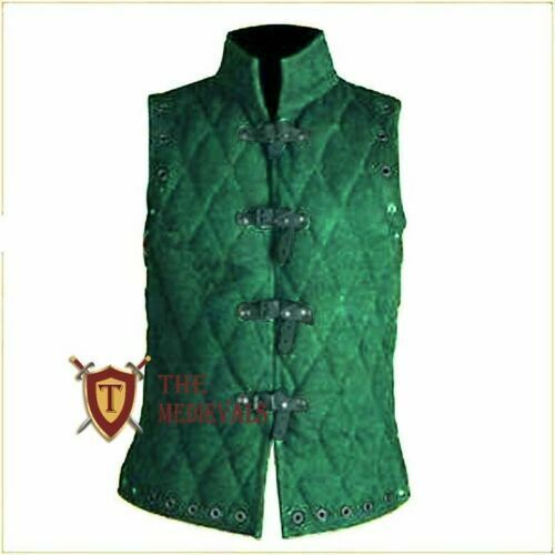 Medieval VEST Gambeson Aketon Jacket costumes Dress knight armor for theater