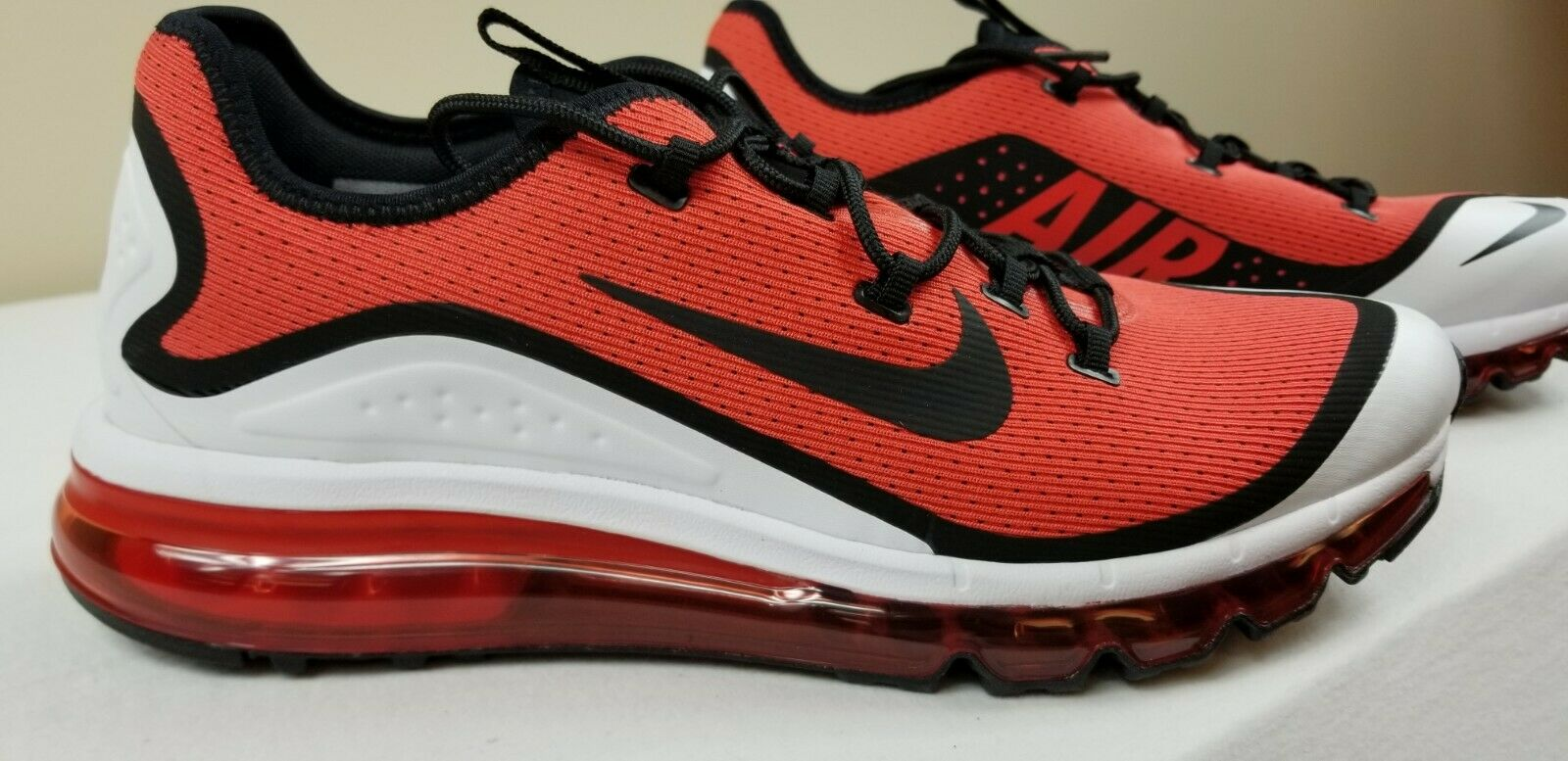 180 Nike Air Max More Mens Size 12 Running shoes Red 2019 AR1944 600 Rare
