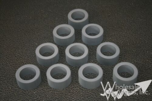 10 Grey Pickup Rollers Compatible With Riso 035-14303 Feed Tires For Risograph