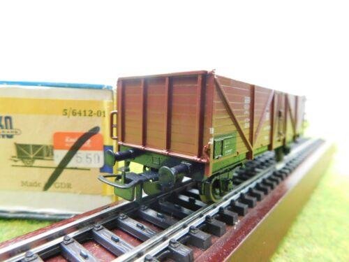 B09 Piko H0 6412-01 Güterwagen DR Hochbord OVP