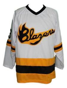 Custom-Name-Syracuse-Blazers-Retro-Hockey-Jersey-New-White-Any-Size