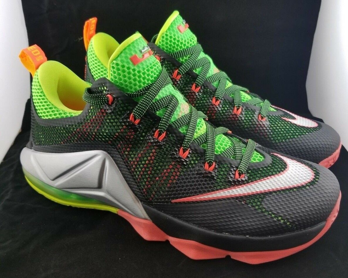 Nike LeBron XII 12 Low Remix Hot Lava Mens Size 10 724557-003 - New With box