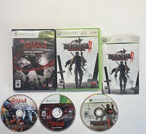 Xbox-360-Ninja-Gaiden-II-2-amp-Ninja-Gaiden-Z-2-Game-Lot-FAST-SHIP