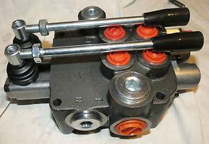 VALVE-HYDRAULIQUE-DE-COMMANDE-MANUELLE-2-fach-80l-pour-1-x-dw-1-x-EW-cylindre