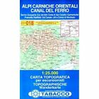 Alpi Casrniche Orientalies by Tabacco(Sheet map, folded)