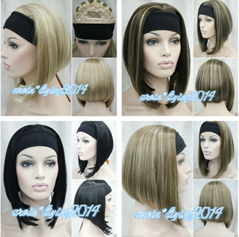 Fashion Straight Cosplay wigs Womens Short Fancy Dress wig 8 colors
