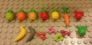 Fruit 71006 41177 Figure Accessory NEW LEGO Food Cherry Magenta x 10
