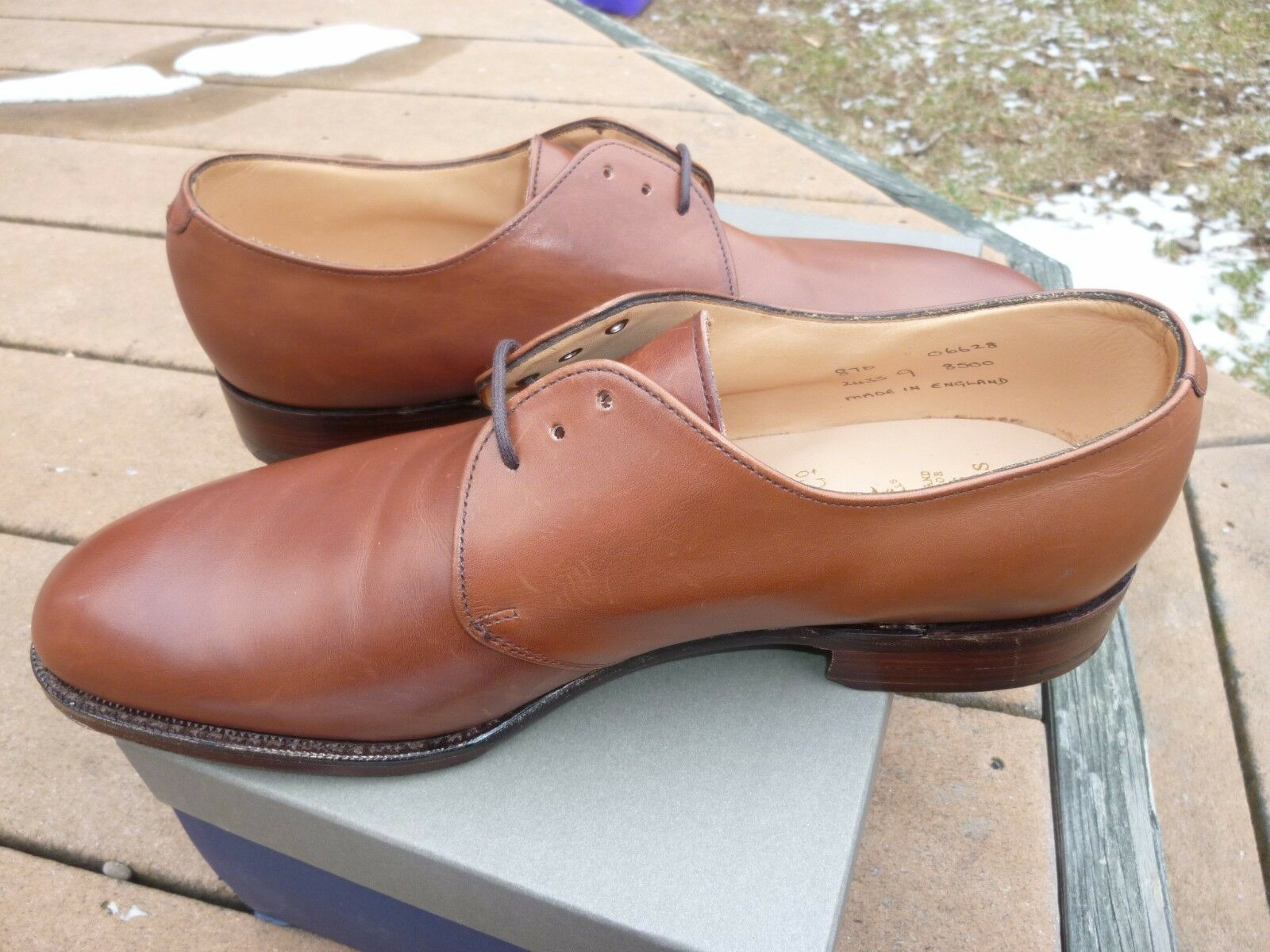 comodamente NEW  Peal Peal Peal & Co 3-Eyelet Derby Med. Marrone 9D scarpe NWB Brooks Bros Leather UK  Miglior prezzo