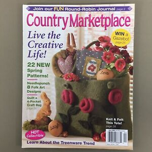 Country Marketplace magazine April 2006 Spring folk prim country craft projects