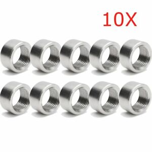 10x-M18-x1-5-O2-Oxygen-Sensor-Stainless-Exhaust-Weld-On-Nut-Plug-For-Lambda