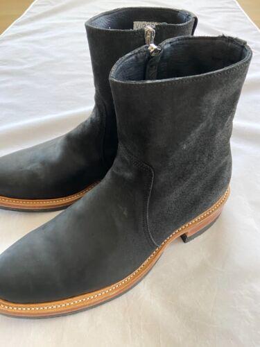 Men's Viberg Black Split Horsebutt Side Zip Boots