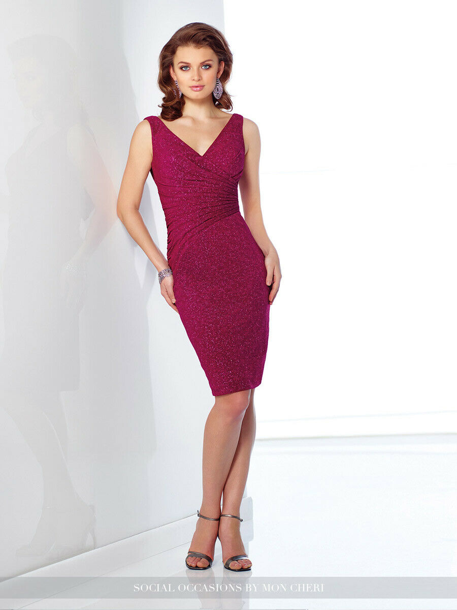 Social Occasions by Mon Cheri 216868 -Color:Fuchsia-Sz 12-Mother of the Bride