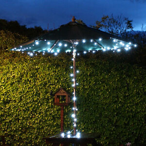 Details about Solar Lights 5M or10M LED Fairy String Lights,Garden,&  Telescopic Flag Poles Use