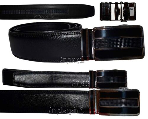 """Men/'s belt Leather Dress//Casual Click Comfort Automatic Lock belt up to 43/"""" New"""