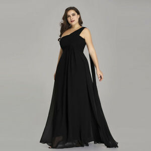 Details about Ever Pretty Plus Size Long Black Formal Evening Gowns Mother  Of Bride Dresses