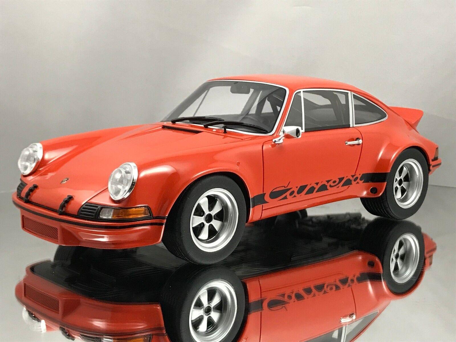GT Spirit Porsche 911 2.8 RSR 1973 Orange avec en résine noire Voiture Modèle 1 18