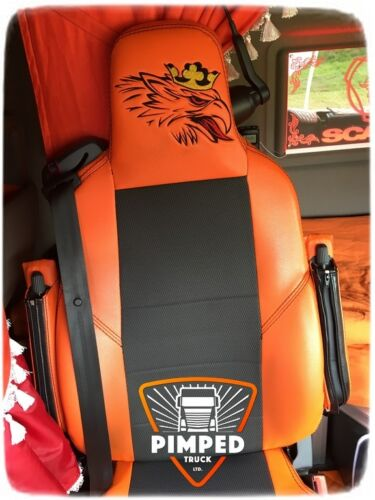 ECO LEATHER SEAT COVERS TRUCK SEAT COVERS Orange GRIFFIN SCANIA R-series 2014-.