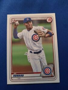 2020 Bowman Draft #BD98 Ed Howard CHICAGO CUBS 1ST RD 2020 PICK, 16TH OVERALL