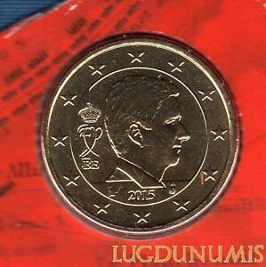 Belgique-2015-50-centimes-d-039-euro-FDC-provenant-coffret-BU-30-000-exemplaires