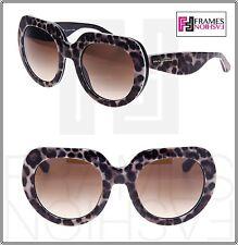 60896eaddc Dolce   Gabbana 4191 Leopard Oversized Black Brown Sunglasses DG4191P  1995 13