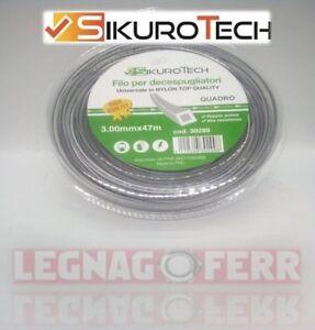 Filo-Decespugliatore-Quadro-3-0-MM-In-Nylon-Bobina-47-Metri-Anti-Rottura