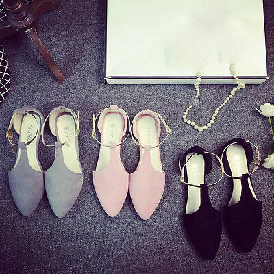 Fashion Women Point Toe Slip-On Flat Shoes Comfort Leisure Flats Party Shoes NEW
