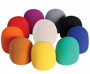 10-Color-Microphone-Windscreen-Foam-Cover-for-Ball-Type-Stage-Handheld-Vocal-Mic