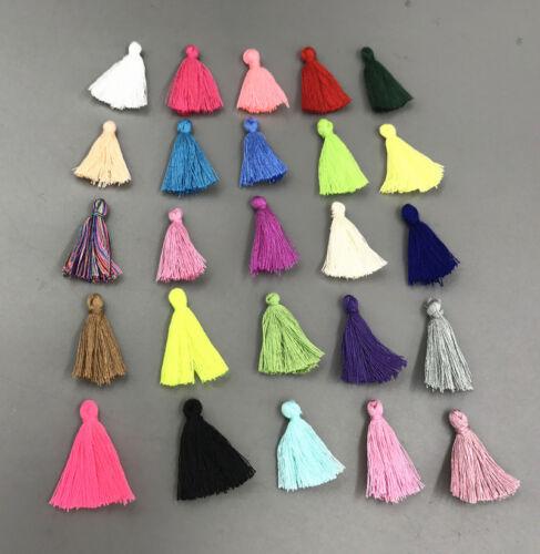 200X Multicolor kleine Baumwollgewinde-Troddel Charme-hängende 30mm