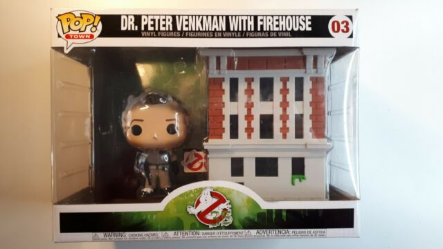 Funko Pop! Town Ghostbusters Dr. Peter Venkman With Firehouse # 03