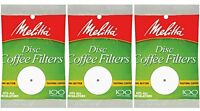 Melitta 3.5 Inch White Disc Coffee Filters (pack Of 3), New, Free Shipping