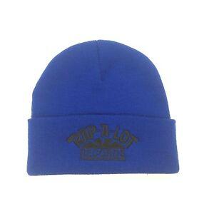 0a812adc NWT Supreme x Rap-A-Lot Records Men's Blue Logo Beanie Knit Hat SS17 ...