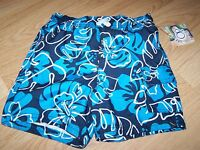 Size 18 Months Op Ocean Pacific Tropical Print Swim Trunks Board Shorts Blue