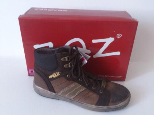 37 Jungen Schuhe Leder Braun Kinderschuhe Braqeez 0360.29.021 Gr 32