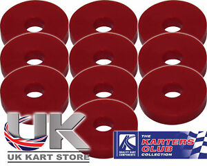 Rubber-Washers-M6-6mm-x-4mm-x-20mm-Red-Pack-of-10-UK-KART-STORE