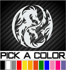 Yin Yang Dragons Decal JDM Car Pickup Truck Van Window Funny Vinyl Sticker