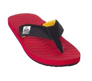 997a4a57c5f5 Reef ROUNDHOUSE RASTA Red Yellow Black Beach Sandals 2203 Men s Flip ...
