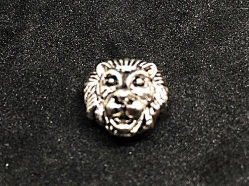 Tiger ojo azul-silberfarbener cabeza león-brazalete pulsera perlas pulsera 8mm