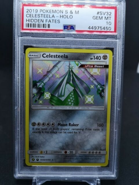 Pokemon S&M Hidden Celesteela Holo SV32 PSA 10 GEM MINT
