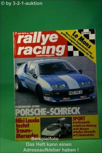 Rallye Racing 7//79 Fleischmann Alpine Ford Capri 3,0 S