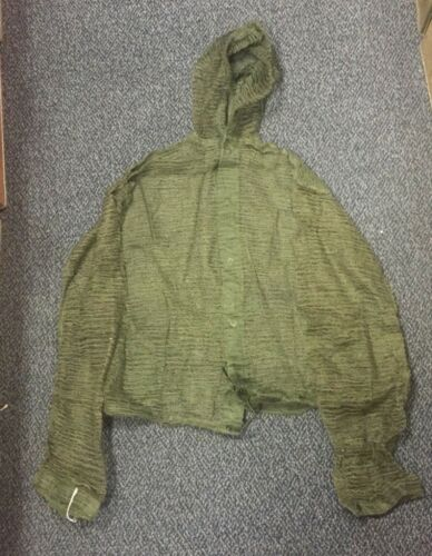 VINTAGE MOSQUITO NET JACKET BUTTON DOWN GENUINE ISSUE BUG INSECT COAT VIETNAM