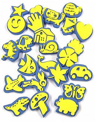 24 FOAM ANIMAL & ASSORTED SHAPES CRAFT STAMPERS PAINT CHILDRENS PAINTING ART 713
