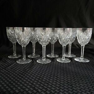 St-Louis-Crystal-Lot-of-8-Water-Goblets-Florence-Pattern