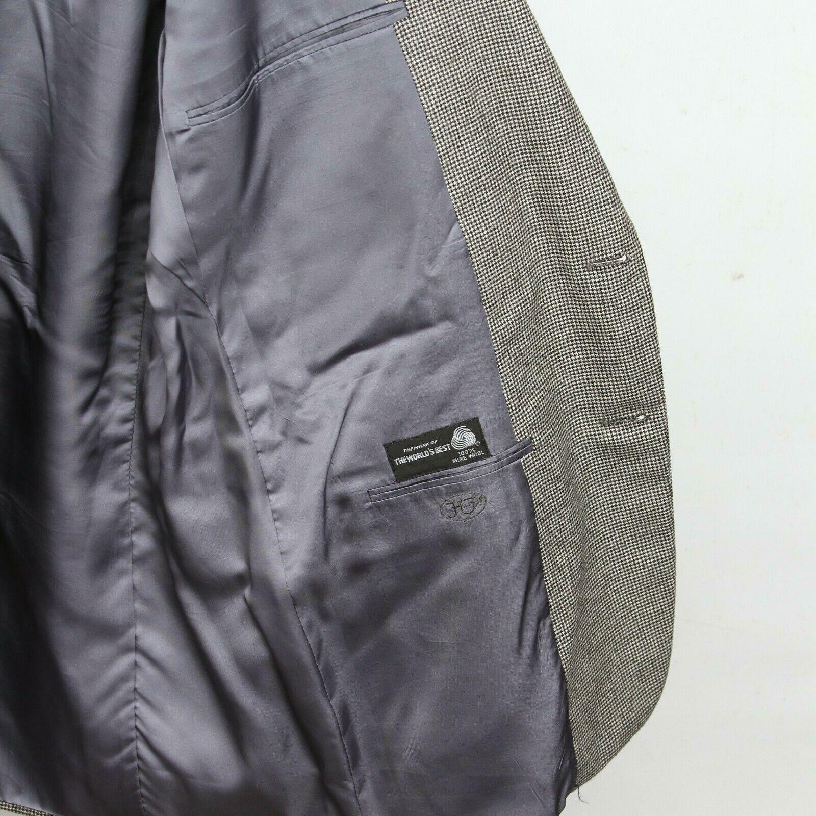 Hickey Freeman Paul Simon Gray White Black Wool H… - image 8