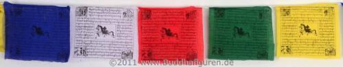 25 Blatt Tibetische Gebetsfahnen Länge 575 cm aus Baumwolle Handarbeit Nepal