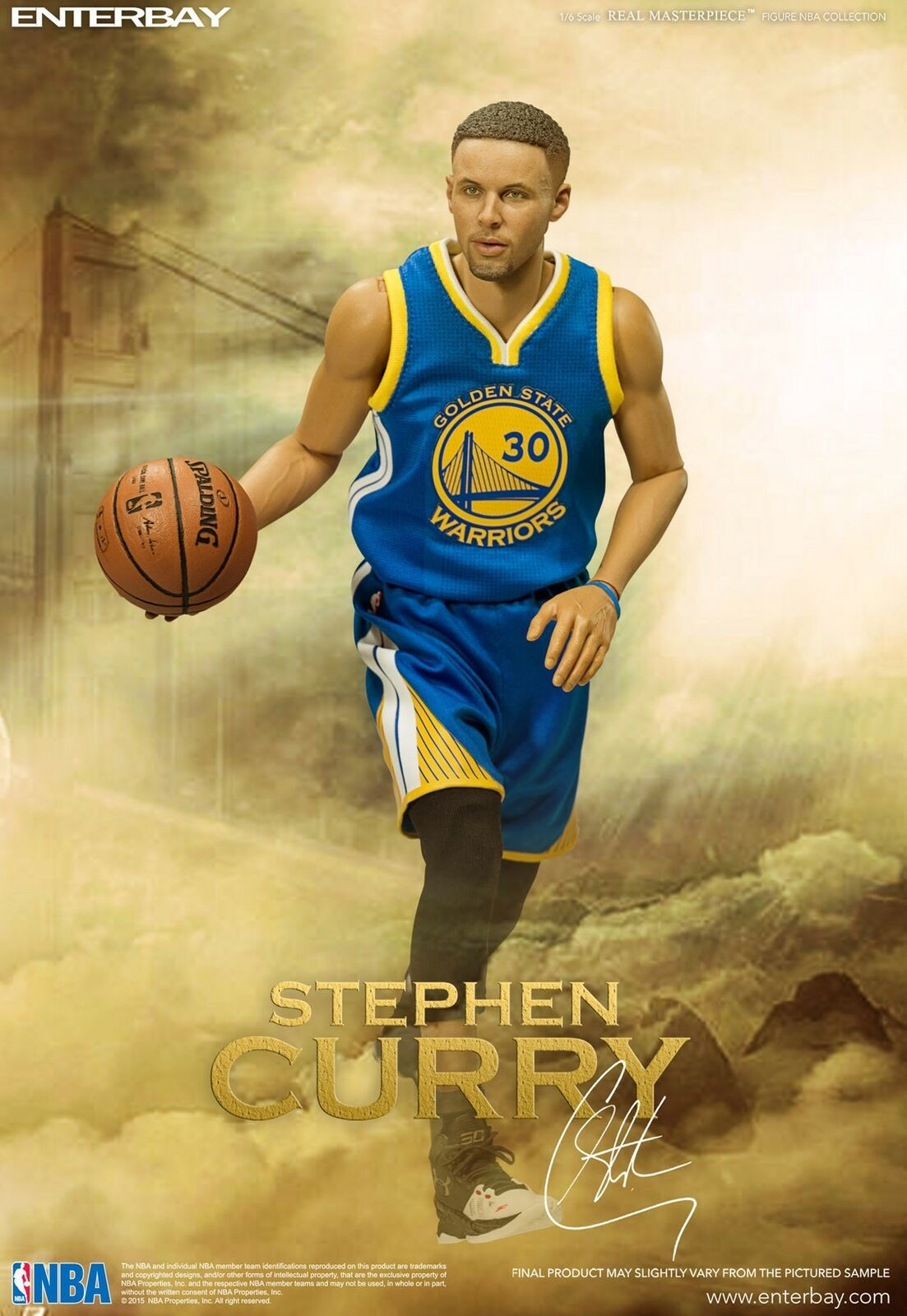 NBA x Enterpay Stephen Curry 1 6 Scale Version 2.0